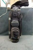Full Size ACUITY GOLF BAG Cart Carry CLUB DIVIDER SYSTEM Black lots of pockets
