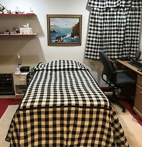 Black White Checker Twin Bed Set 2 Bedspreads 2 Valances 4 Curtains Pinch Pleats