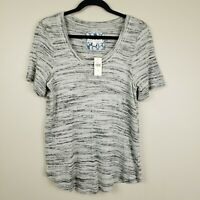 Pure + Good Anthropologie Women's Elle Gray Space Dyed Top Shirt Medium NWT Soft