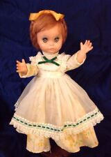 "RARE 1963 UNEEDA DOLLIKIN VINYL DOLL ""COQUETTE"" JOINTED GREEN EYES RED HAIR"