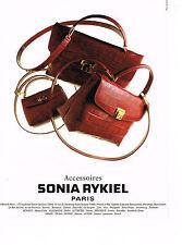 PUBLICITE ADVERTISING 094  1996   SONIA RYKIEL  accessoires sacs
