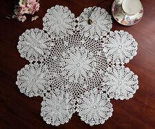 Cotton Hand Crochet Lace Doily Doilies Placemat Tablecloth Round 60CM White FP02