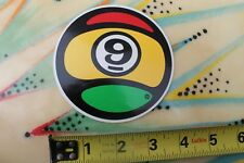 Sector 9 Nine Skateboards Longboard Rasta Reggae Pool Ball Skateboarding STICKER