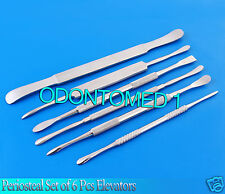 Periosteal Set of 6 Pcs Elevators Dental Surgical Instruments