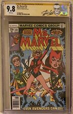 Ms Marvel 18 CGC 9.8 - 1st Full Mystique; White Pages. Stan Lee SS. HTF.