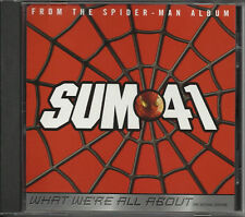 Spiderman SUM 41 What We're PROMO CD Single Spider man all about 2002 USA MINT