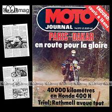 MOTO JOURNAL 392 PHILIPPE COULON HONDA CB 400 N PARIS-DAKAR YAMAHA XT 500 1979