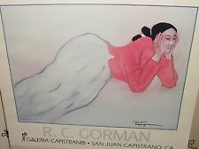 "R.C.GORMAN ""SONA DORA"" HAND SIGNED IN MARKER LARGE GALERIA CAPISTRANO POSTER"