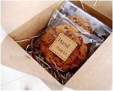 """Les étiquettes emballages x25 autocollants """"hand made"""" cadeau décorer 2,5 x 2,5 cm scrapbooking"""