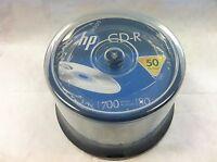 50 52X HP Logo Blank CD-R CDR Recordable Disc 80Min/700MB  Cake Box