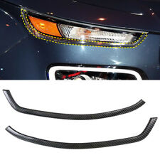 Front Head Light Lamp Eydlid Cover Trim 2pcs For Hyundai Venue 2019 - 2020