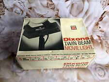 DIXONS TWIN BEAM MOVIE CINE LIGHT IN ORIGINAL BOX WITH BRACKETS