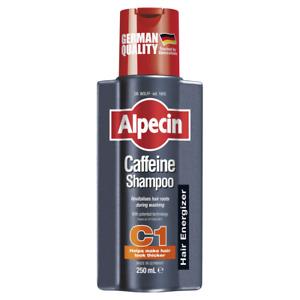 Alpecin Caffeine Shampoo 250mL C1 Hair Energizer Recharges During Washing