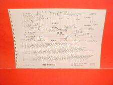 1961 OLDSMOBILE 98 SUPER 88 HOLIDAY STARFIRE CONVERTIBLE FRAME DIMENSION CHART