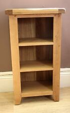 SOLID OAK SMALL NARROW BOOKCASE, 50cm, 30cm, 90cm