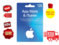 NEW Apple App Store and iTunes $25 Gift Card 2019 Redeemable Activated Physical