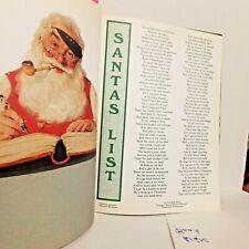 Ideals Christmas Magazine 1987 Winter Holiday Poem Santa List Stories Traditions
