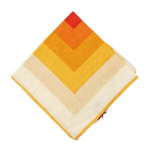 NWT RODA Golden Yellow-Orange Ombre Print Linen Pocket Square