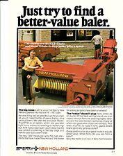 Original 1978 Sperry New Holland Hay Baler Magazine Ad