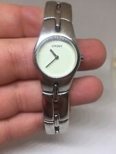 DKNY GREEN-PURPLE DIAL STAINLESS STEEL LADIES WATCH NY3009 Free Shipping