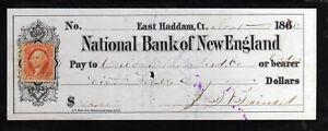 U1180 - 1870 NATIONAL BANK OF NEW ENGLAND - EAST HASSAM