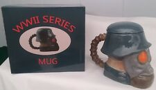 3D WWII SERIES COLLECTOR CERAMIC COFFEE MUG GERMAN ARMY MILITARY HELMET GAS MASK