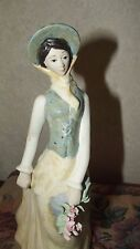 LEVANTINA -P.A.L. PORCELANA -VINTAGE GIRL w/FLOWERS *** Made in Spain ***