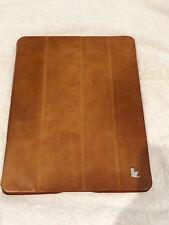 Jisoncase Vintage Brown Genuine Leather Folding Smart Case Cover Apple iPad 3