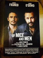 OF MICE AND MEN Broadway Window Card Poster JAMES FRANCO CHRIS O'DOWD