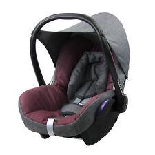 BAMBINIWELT Ersatzbezug 6tlg. Maxi-Cosi CABRIOFIX Baby MELIERT GRAU/BORDEAUX