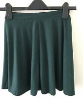 Ladies Bottle Green Full Mini Skirt Size 6 By Topshop