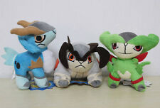 "3X Swords of Justice Virizion Cobalion Terrakion 6"" Plush toys Pokemon Game Doll"