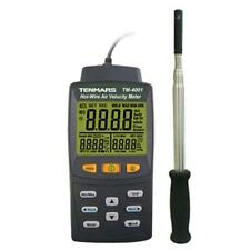 Digital Hot Wire Anemometer Air Flow (volume) Calculation Temperature Humidity