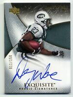 2007 UD Exquisite DANNY WARE Rookie Card RC AUTO AUTOGRAPH /150 New York Jets 79