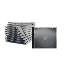 100 Stück CD Hüllen Jewel Case - schwarz - 1 fach
