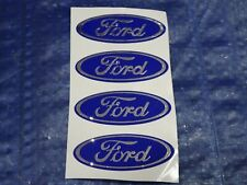 SET OF 4 FORD WHEEL RIM CENTER CAP LOGO LOGOS DECAL EMBLEM STICKER 7/8""