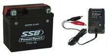 12V 4aH YTX5L-BS AGM Battery & Charger combo Motorcycle Motorbike ATV Quad