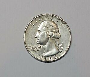 USA :  WASHINGTON SILVER QUARTER  DOLLAR 1964. 0.925 SILVER. KM 164.