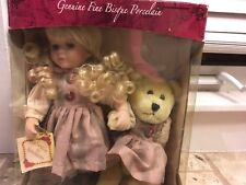Collectors Choice Fine Bisque Porcelain Doll With Bear