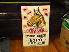 """1970`S EXPO & HORSE SHOW PROMO POSTER BOARD ART - DANVILLE, IL. - ARTWORK """"D"""""""