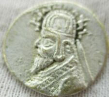 UNRESEARCHED ANCIENT PARTHIAN AR SILVER DRACHM COIN
