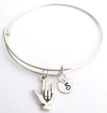 I love you Bracelet,ASL Jewelry,I love You Sign Language ASL Expandable Bangle,