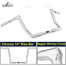 """14"""" Rise Handlebar Ape Monkey Baggers Bar For Harley Electra Glide Ultra Classic"""
