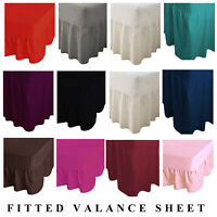 Luxury PolyCotton Non Iron Fitted Valance Sheets Single Double King & Super King