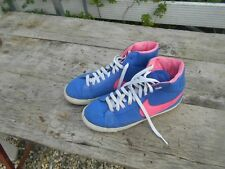 NIKE MONTANTES COLLECTOR VINTAGE T 38,5 ROSES ET BLEUES A 16€ ACH IMM FP RED MON