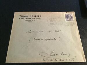 Luxemburg Sonderstempel auf Brief 1937 Grevenmacher