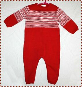 Adorable NEXT BABY Fair Isle sweater romper outfit  Boys 18-24 months Christmas