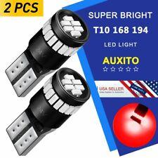Pair Red LED Licence Parking Marker Map Tail Light Bulb 194 168 2825 T10 24V 12V