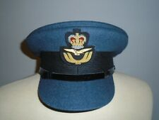 RAF MENS OFFICER CAP WITH BADGE SIZE 63CM GENUINE RAF ISSUE NEW