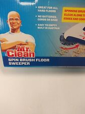 Mr Clean Spin Brush Floor Sweeper, hard floors, no batteries cords or bags New